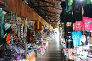 Exploring the market in Borneo
